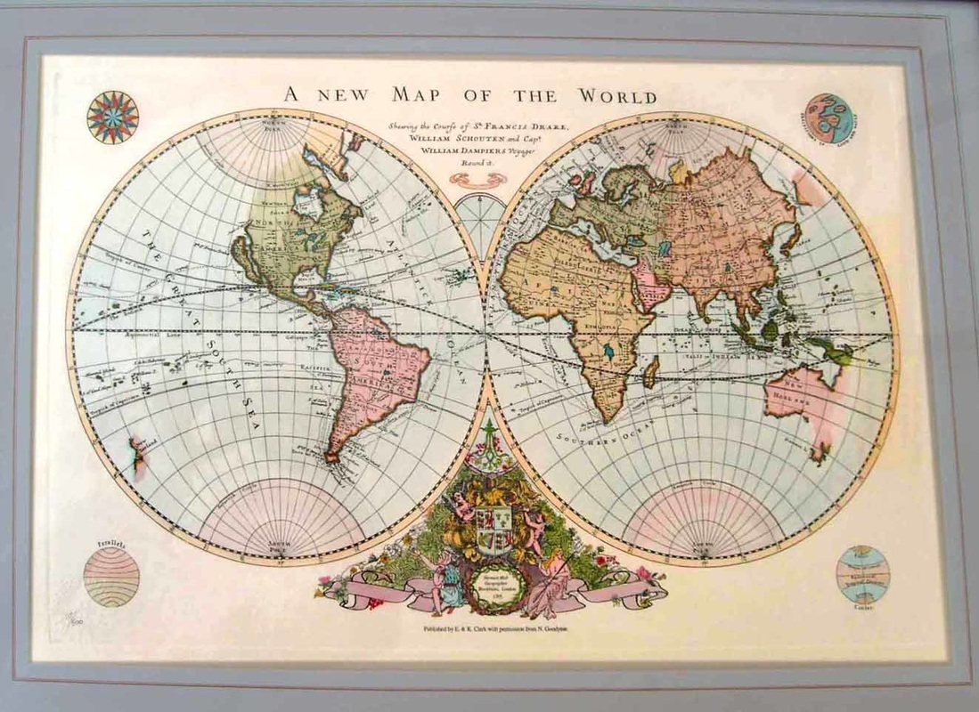 Hand printed maps and prints a new map of the world gumiabroncs Image collections